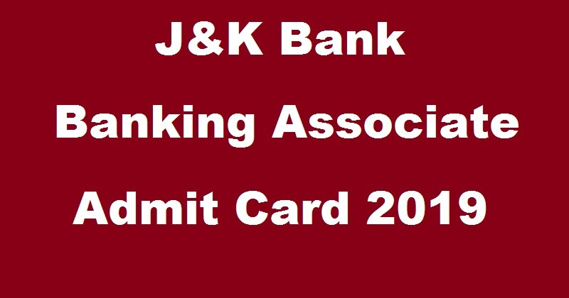 JK Bank banking associates admit card 2019 released