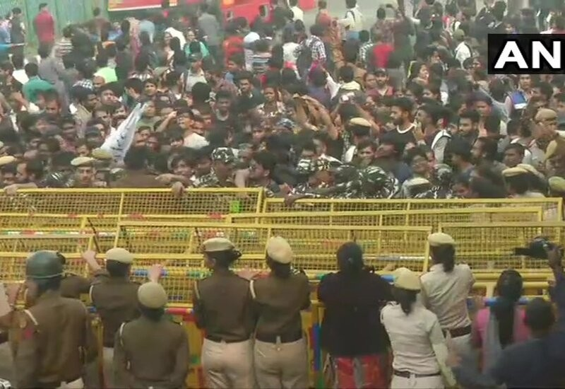 JNU students clash with police as VP Naidu attends convocation