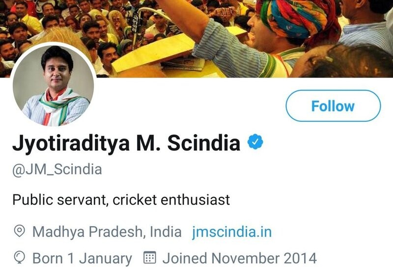 Congress leader Jyotiraditya Scindia removes party posts from Twitter bio