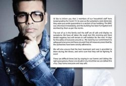 Karan Johar confirms 2 house helps tested COVID-19 +ve, says he tested -ve