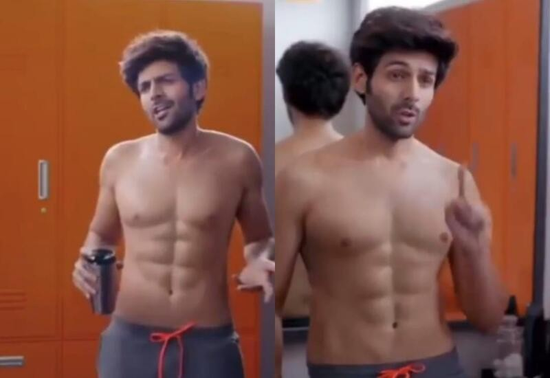 Kartik Aaryan gets criticised for 'fake abs' in hair removal cream ad
