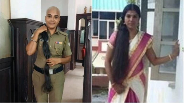 Kerala woman cop shaves her head, donates hair for cancer patients' wigs
