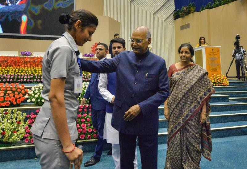 Prez Kovind steps down from stage to check on guard after she faints