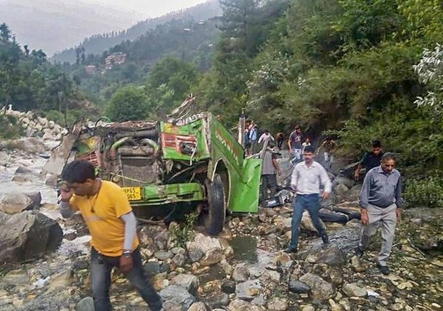 44 killed, 34 injured as bus falls into a gorge in Himachal Pradesh