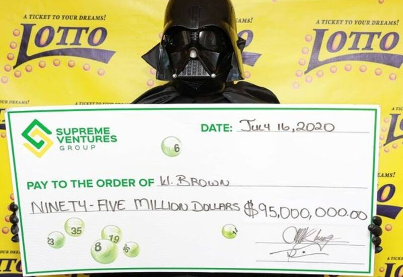 Man in Jamaica collects $95-million lottery dressed as Darth Vader to hide identity
