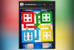 Anushka shares pic of losing Ludo game; says 'I'm practising social distancing'