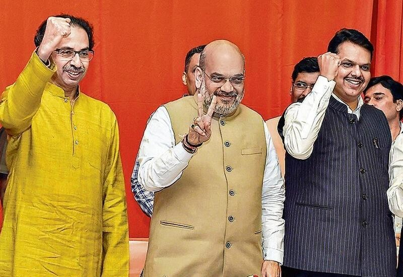 BJP to contest 150 seats, Shiv Sena 124 in Maharashtra poll alliance