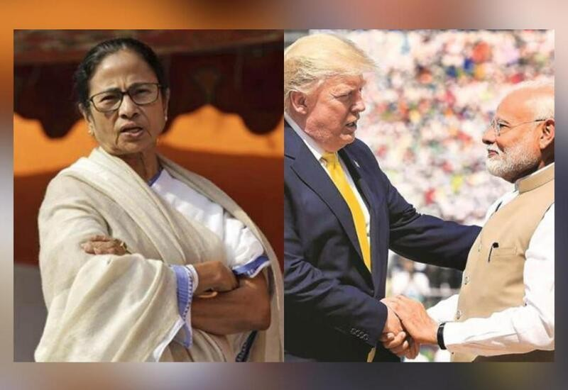 He came, spoke, left & my motherland kept burning: Mamata on Trump's visit