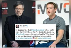 Star Wars actor Mark deletes Facebook account; criticises Zuckerberg