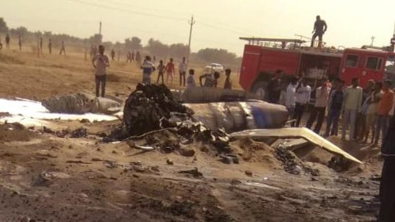 IAF MiG-21 crashes near Bikaner in Rajasthan, pilot ejects