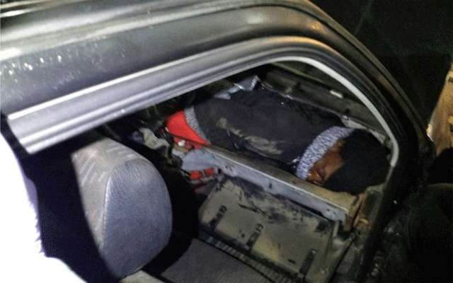 Migrant hides inside car dashboard to enter Europe