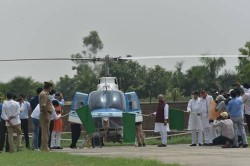 Minster Tomar flags off helicopter services for locust control through aerial spray