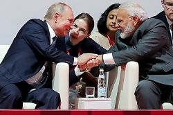 PM Modi Talks with Russian President Vladimir Putin