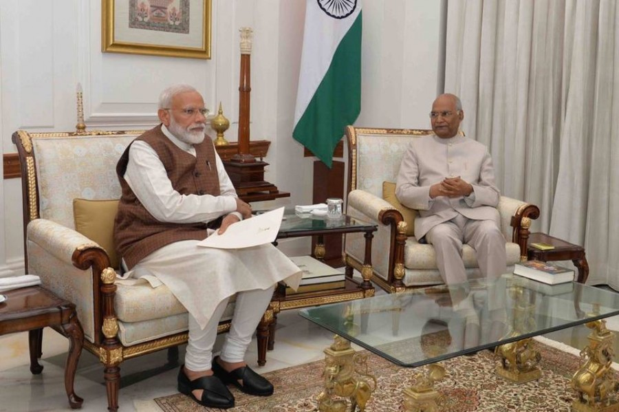 Prime Minister Narendra Modi greets President Ram Nath Kovind on his birthday
