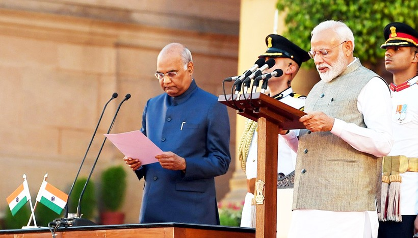 Narendra Modi takes oath with 57 Ministers at glittering event