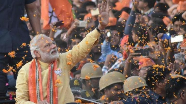 Lok Sabha election 2019 : PM Modi holds grand road show in Varanasi