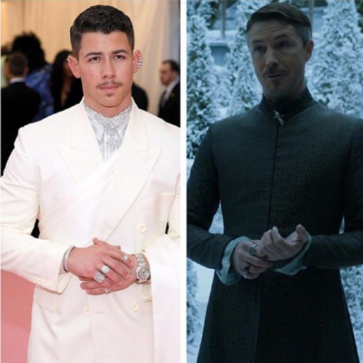 Nick tells Sansa to protect Vale as his Met Gala look resembles to Lord Baelish from Game of Thrones