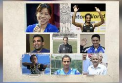 Which sportspersons have been conferred with Padma Awards this year?