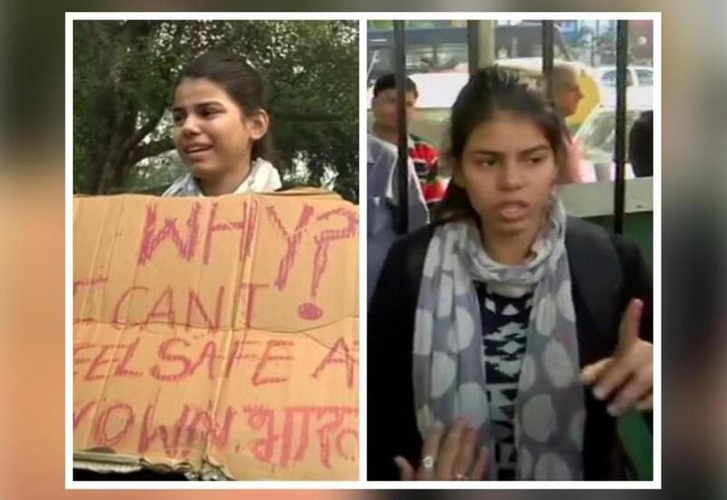 Girl protests alone near Parliament over rape, murder of 27-yr-old; detained