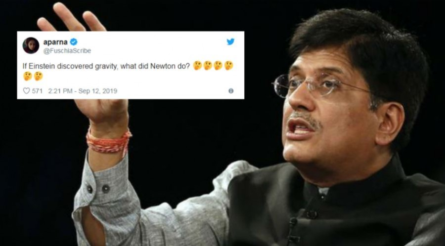 Newton Trends on Twitter After Railway Minister Piyush Goyal Says 'Einstein Discovered Gravity'