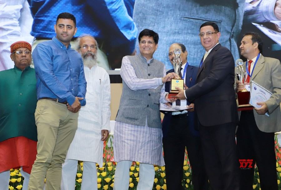Commerce & Industry Minister Piyush Goyal handed over CAPEXIL exports awards in Delhi