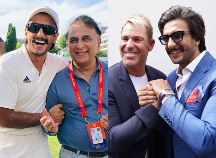 Ranveer Singh's photos with Shane Warne & Sunil Gavaskar will take your cricket fever to next level
