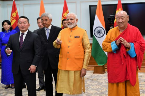 PM Modi and President of Mongolia jointly Unveil Buddha Statue at Gandan Tegchenling Monastery