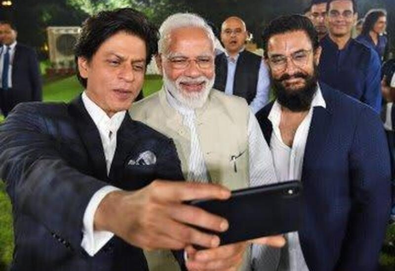 PM meets film actors; shares pic of SRK, Aamir taking selfie with him