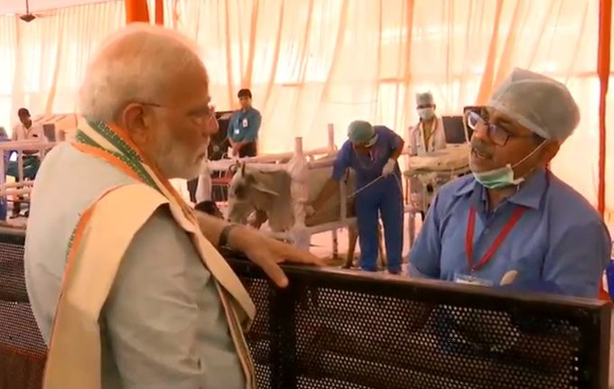 PM Modi launches scheme to vaccinate 500 million livestock in Mathura