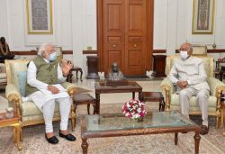 PM Modi meets President post Ladakh visit, briefs on national issues