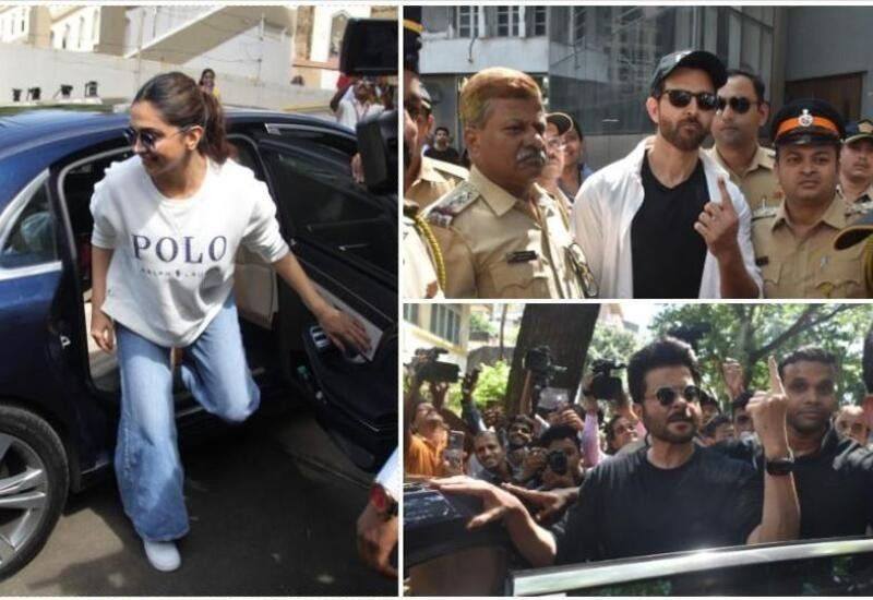 Celebrities cast their vote during Maharashtra Assembly polls