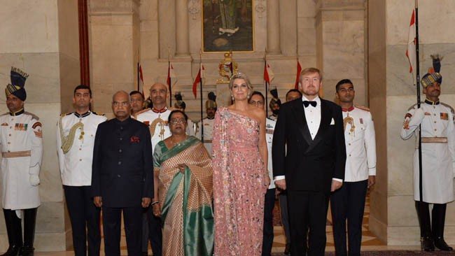 President Ram Nath Kovind receives King and Queen of Netherlands, hosts banquet in their honour