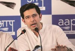Cong on ventilator, no plasma therapy can save it: AAP's Raghav Chadha