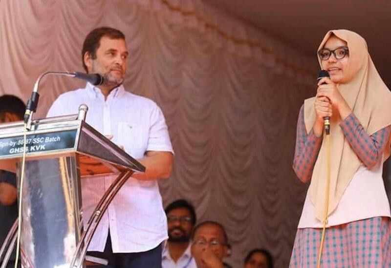 Class 12 girl translates Rahul Gandhi's speech in Kerala