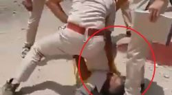 Rajasthan policeman kneels on neck of man who attacked him; video viral