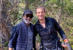 Rajinikanth poses with Bear Grylls in Bandipur, Bear Grylls shares new picture