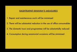 What steps will Rashtrapati Bhavan undertake to reduce expenditure amid COVID-19?