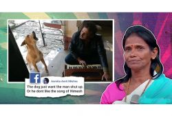 Dog howls as man sings Ranu Mondal's song; video goes viral