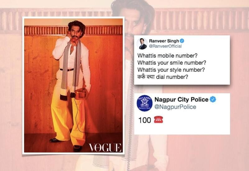 Ranveer captions pic 'What is mobile number?', Nagpur Police replies '100'