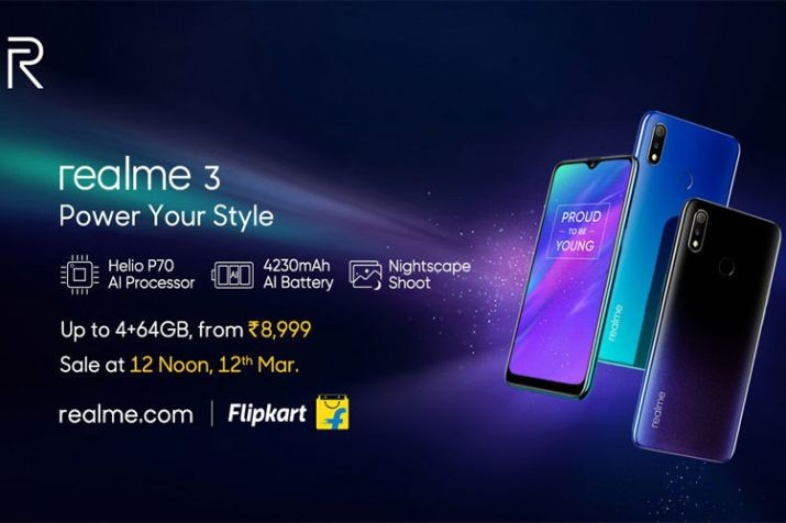 Realme 3 going on sale today at 12 noon
