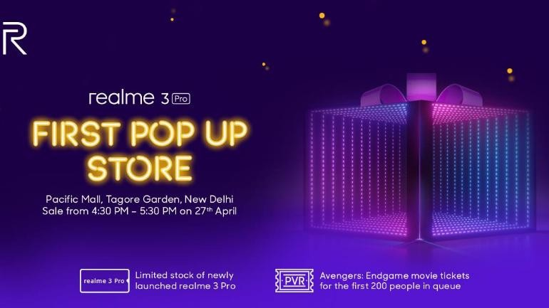 Realme 3 Pro to go on sale on April 27 at company's first pop-up store