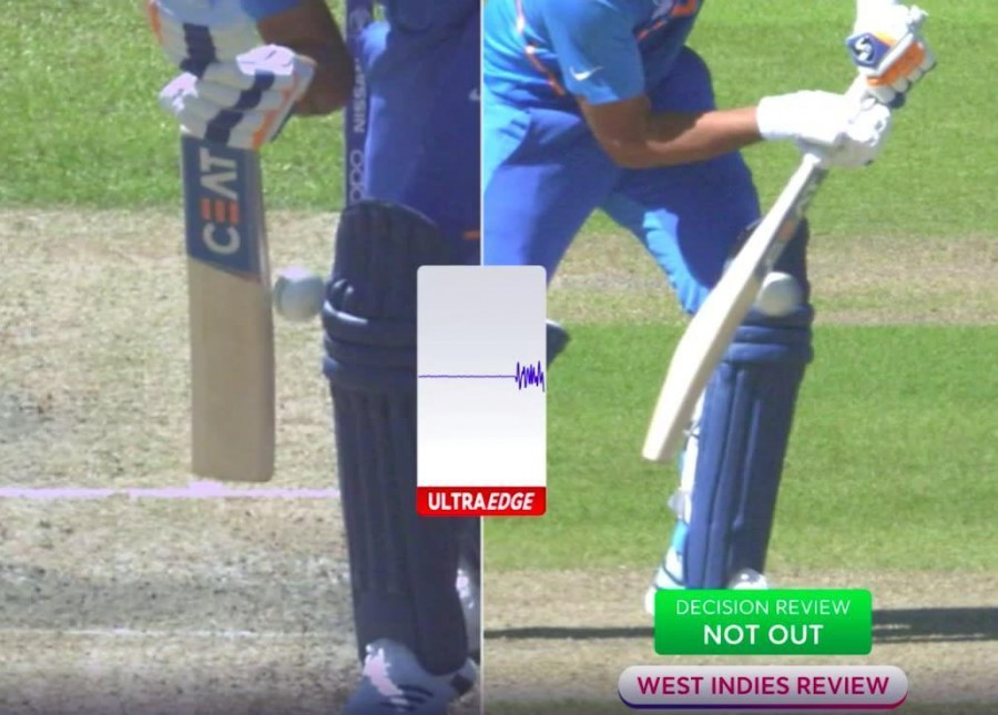 Fans question whether Rohit's caught-behind vs WI was out or not