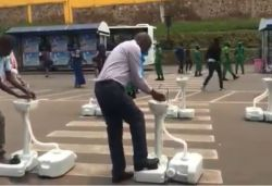 Portable washbasins installed in Rwanda to prevent coronavirus; videos go viral
