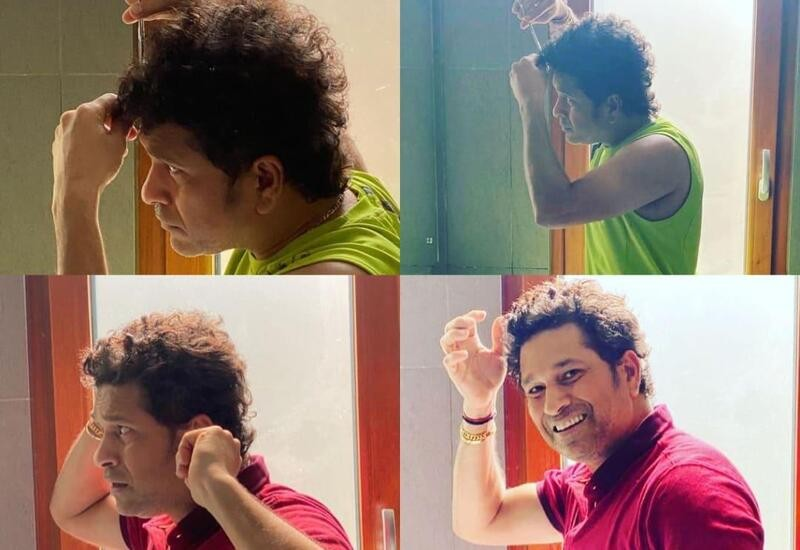 Sachin Tendulkar gives himself a haircut amid lockdown, shares pictures