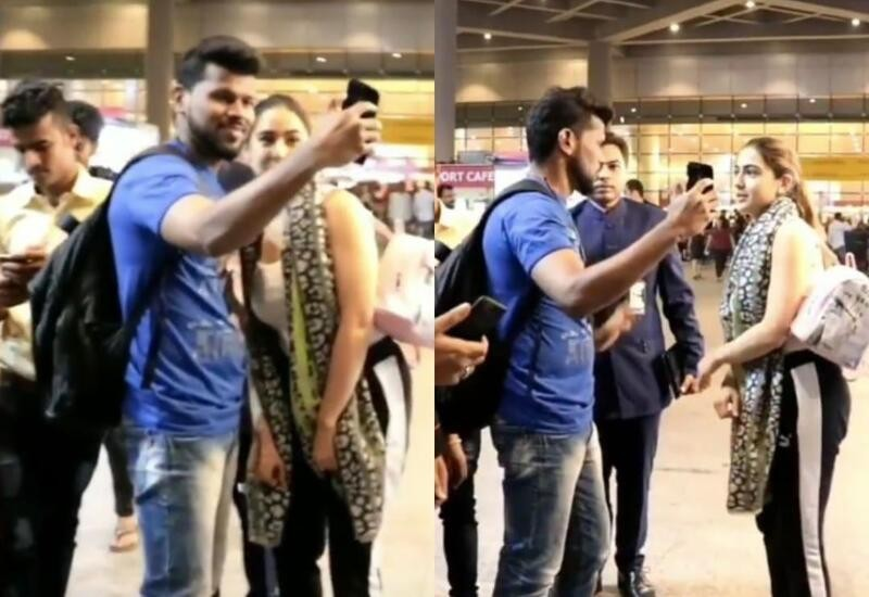 Sara steps back as fan gets too close while taking selfie; video surfaces