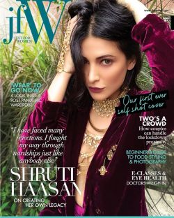Shruti Haasan On JFW Cover Page