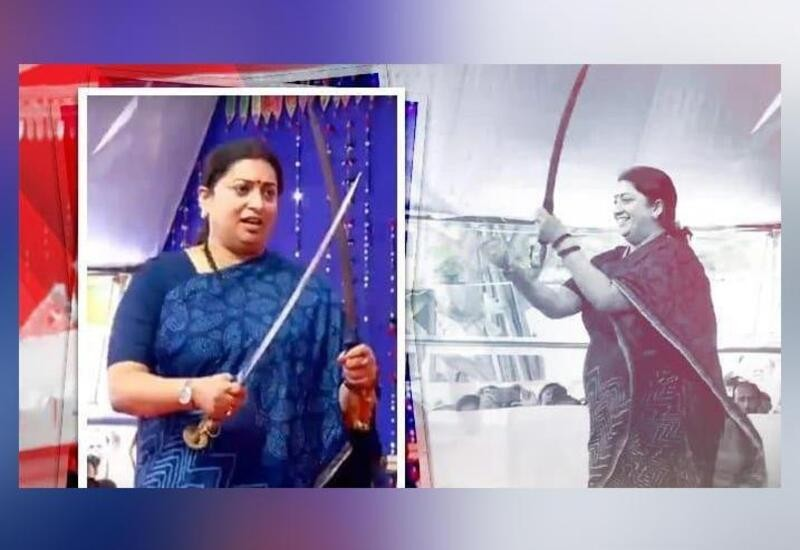 Smriti Irani dances with swords at function in Gujarat; video surfaces