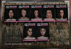 Pics of 'bruised' Sonia, Michelle used by Italian artist to show gender violence