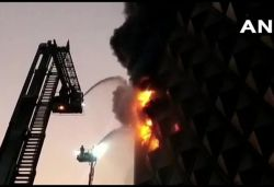 7-storey textile market gutted in fire in Surat; 60 fire engines rushed to spot
