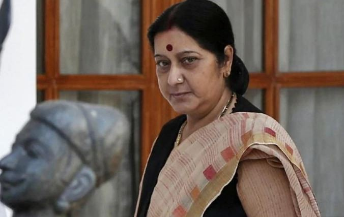 Sushma Swaraj bids farewell, moves out of official residence in Delhi